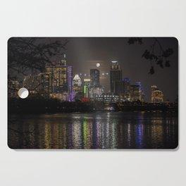 Austin Texas Full Moon Cutting Board