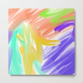 Abstract 2 Painting in Oil Metal Print