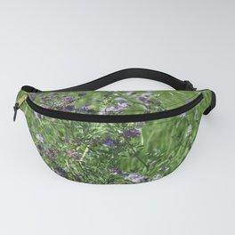 Purple Prairie Wildflowers Fanny Pack