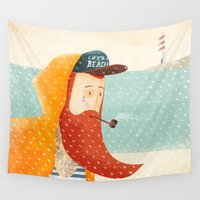 beach Wall Tapestries featuring Beach by Seaside Spirit