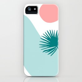 Tropical Beach, Minimalist Abstract Illustration iPhone Case