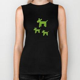 Dogs-Green Biker Tank