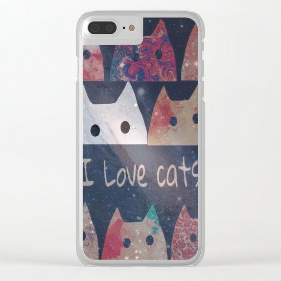 cat-127 Clear iPhone Case