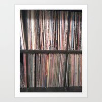 records Art Prints featuring Records by Loudesthowl