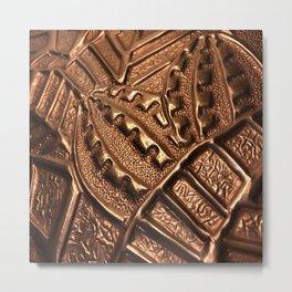 Natural Copper Grenade Metal Print