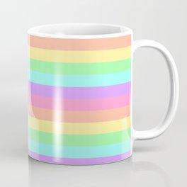 Pastel Rainbow Stripes Coffee Mug