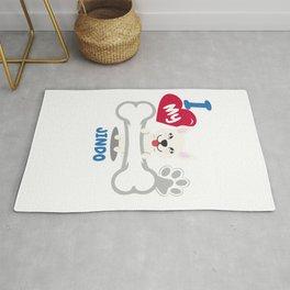 JINDO Cute Dog Gift Idea Funny Dogs Rug
