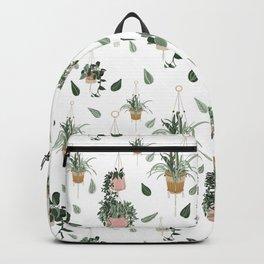 Modern Boho Macrame Plant Hangers Pattern White Backpack