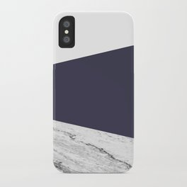 Marble Eclipse blue Geometry iPhone Case