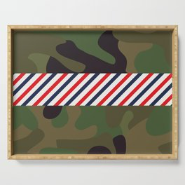 Barber Camo Pattern Serving Tray