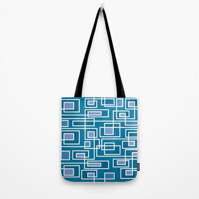 Geometric blue pattern Tote Bag
