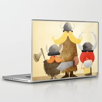 vikings Laptop & iPad Skins featuring Vikings by Parin Heidari