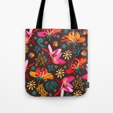 Tropical flower pattern Tote Bag