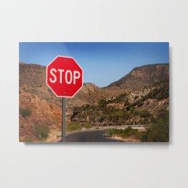 Stop! Metal Print