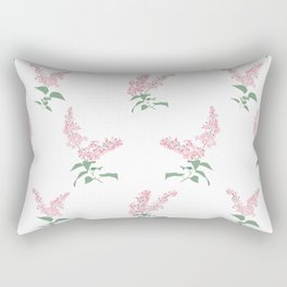 Pink Lilacs Springtime Pattern Illustration Rectangular Pillow
