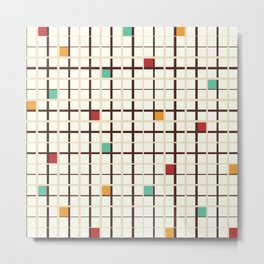 Grid pattern Metal Print