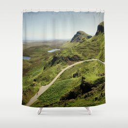 Landscape Photography by George Hiles Shower Curtain