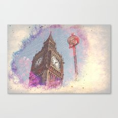 City in Nebula #society6 Canvas Print
