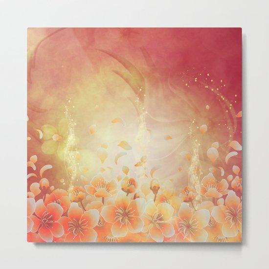 Elegant, colorful floral design Metal Print
