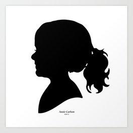 Annie Carlson Silhouette Art Print