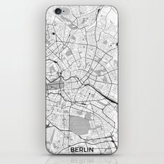 Berlin Map Gray iPhone & iPod Skin