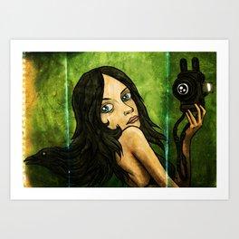 Raven Hair Art Print