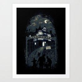 Zombies Inn Art Print
