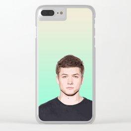 Taron Egerton 4 Clear iPhone Case