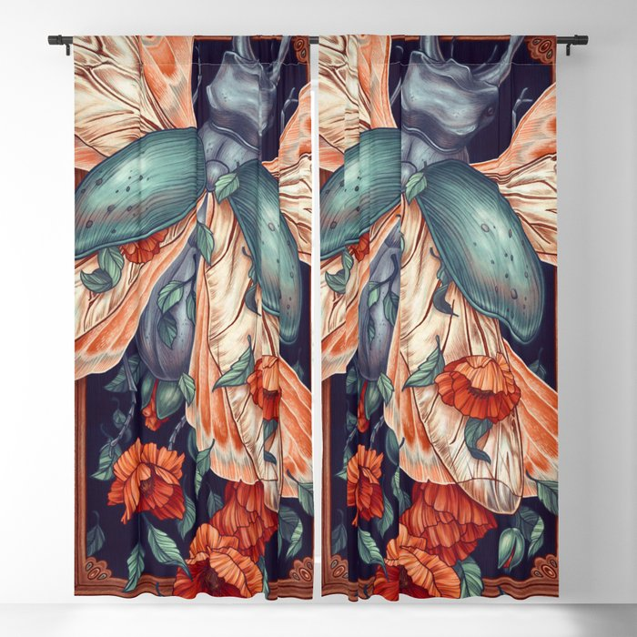 Moth Beetle Blackout Curtain