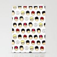 kpop Stationery Cards featuring noface by chegyul