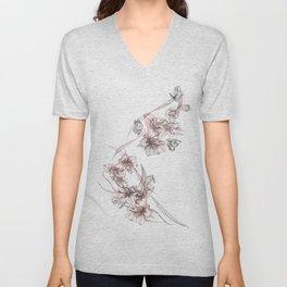 Crystalized Florals Unisex V-Neck
