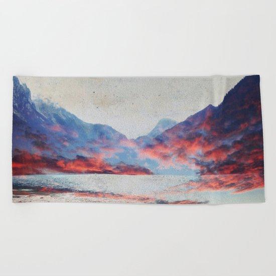 Fall Mountains Beach Towel
