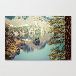 Crater Lake Oregon Phantom Ship Island Canvas Print