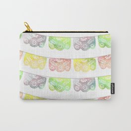 Vibrant Watercolor Papel Picado Carry-All Pouch