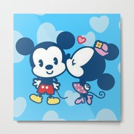 Mousing Around in Love Metal Print