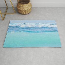 Kapukaulua Pure Blue Surf Rug