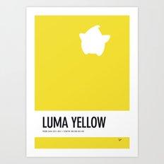 No40 My Minimal Color Code poster Luma Art Print