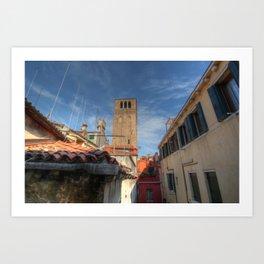 Venice belltower Art Print
