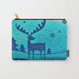 Capri Winter Reindeer Carry-All Pouch