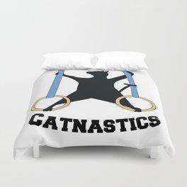 Catnastics Rings Duvet Cover