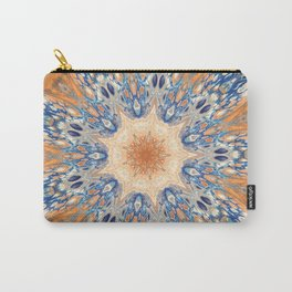 Fluid Nature - Golden Rays Mandala Carry-All Pouch