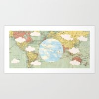world maps Art Prints featuring Off The Maps by Grace M