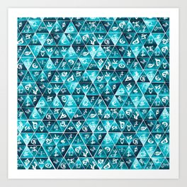 Shadowhunters Runes Mosaic Art Print