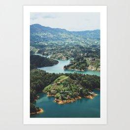 Guatape, Colombia Art Print