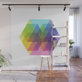 Fig. 040 Hexagon Shapes Wall Mural