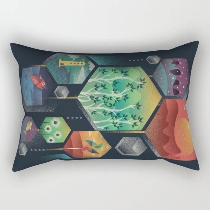 Geometrical Wonders Rectangular Pillow