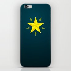 Gold Star/ Blue iPhone & iPod Skin