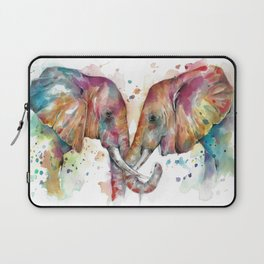 Sunset Elephants Laptop Sleeve