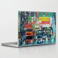 hong kong Laptop & iPad Skins featuring Hong Kong by Corrado Pizzi