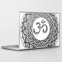 om Laptop & iPad Skins featuring OM by Fie Bystrup